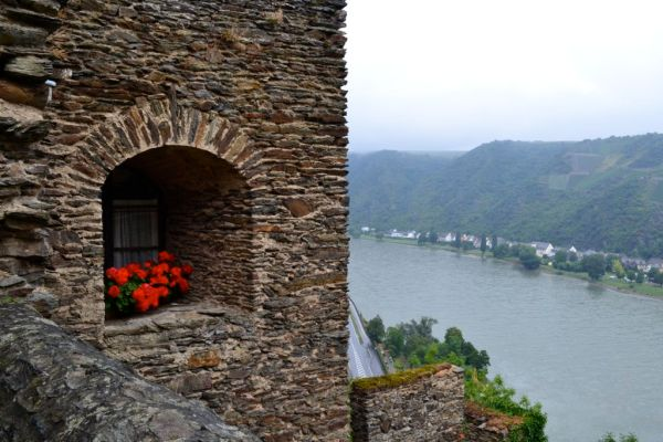 View of Rhine River from Burg Rheinfels castle