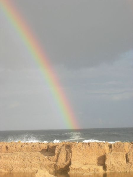 Rainbow at Blue Beach