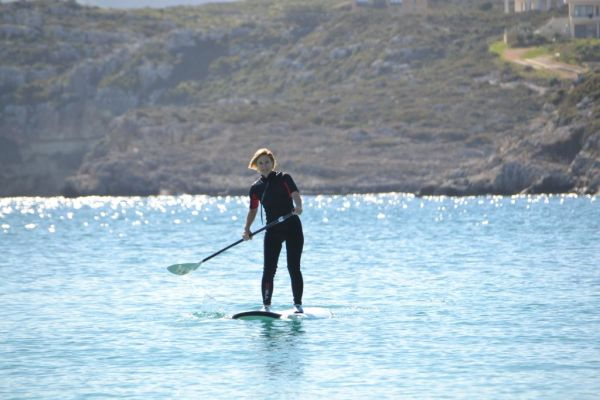 Paddleboarding at Marathi