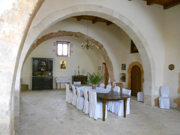 Inside Agia Kyriaki lower monastery