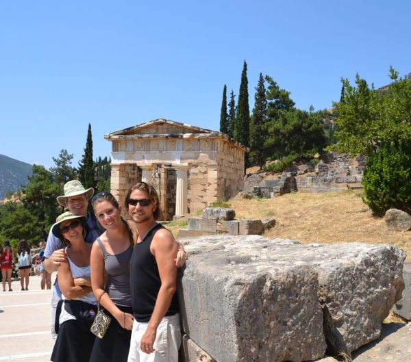 Our travel buds at Delphi