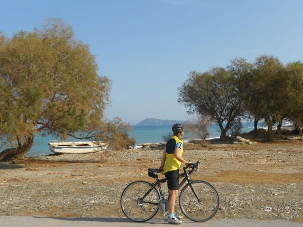 Biking along the north coast - Hania area