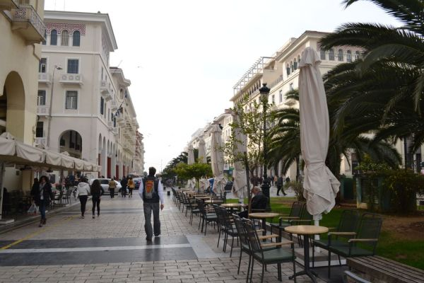 Towards Aristotelous Square