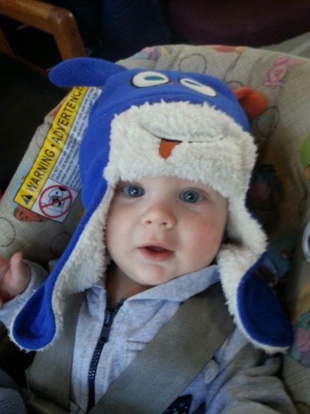 Baby blue eyes - 7 mo.