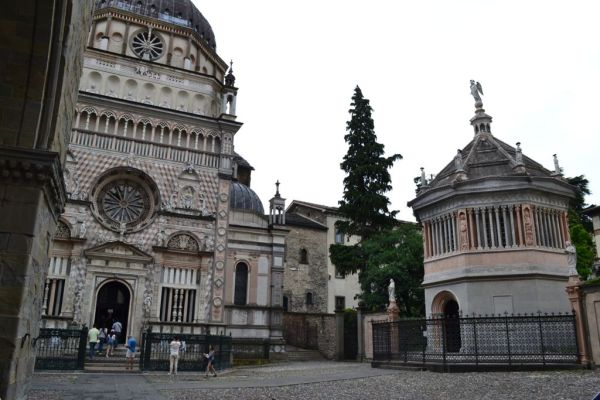 Basilica of Santa Maria Maggiore (right) and Baptistery (left)