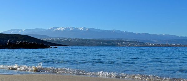 View of White Mountains from Akrotiri